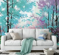 Wholesale Wallpapers Trees - 3d abstract wallpapers wall papers home decor 3d papel pintado pared rollos colorful tree murals wallpaper roll painting mural
