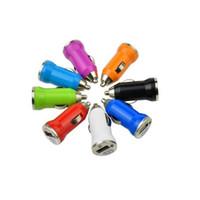 smartphone-dock großhandel-Für Iphone7 USB Ladegeräte Bunte Bullet Auto Ladegerät 5 V 1A Mini USB Auto Ladegerät Adapter Für Smartphone Mp3 Mp4 Tablet Direkt Ab Werk