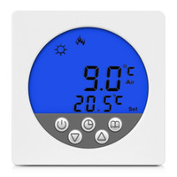 aquecimento do termostato ambiente venda por atacado-Freeshipping Venda Quente de Alta Qualidade Exatamente Piso Aquecimento / Sistema de Aquecimento de Água Termostato Programável Sala de Display LCD Inteligente