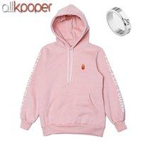 hoodies roses pour les garçons achat en gros de-ALLKPOPER Kpop BTS JIN Cap Pull À Capuche Sweatshirt Bangtan Garçons Pull De Couleur Rose Pull EXID HANI Sweatshirts bts Cadeau