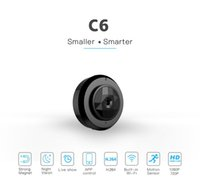 mikrokamera dvr bewegung großhandel-Mini Wifi Kamera C6 HD 720P Infrarot Nachtsicht Micro Kamera Wireless IP P2P Mini Kamera Bewegungserkennung DV DVR Camcorder