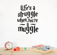 """Wholesale harry potter wall - """"Life is a strle..."""" Funny Harry Potter Wall Sticker Quotes Vinyl Wall 25x17cm"""