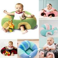 asiento del sofá del bebé al por mayor-Sillas de comedor para bebés recién nacidos Soporte infantil suave Asiento de peluche Asiento de coche Cojín de dibujos animados Asientos para bebés Sofá 15 colores C3683