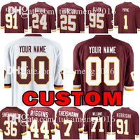 Wholesale Ryan White - Custom Washington Redskins Jersey 91 Ryan Kerrigan 24 Josh Norman 36 D.J. Swearinger 25 Chris Thompson 7 Joe Theismann 1 Payne Jersey