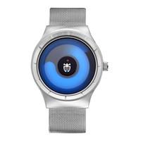 montres décontractées cool achat en gros de-BRW TWINCITY luxe Novel cool Watch Men élégant Relogio Masculino Montre en acier inoxydable Mesh Band bande Quartz Montre-bracelet montres occasionnels