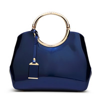 lackleder tasche mädchen großhandel-Kleid Handtasche Hohe Qualität Frauen Messenger Bags Umhängetaschen Patent Luxus Leder Umhängetasche Für Mädchen Designer Handtaschen