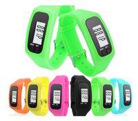 contadores de calorías ver al por mayor-2018 Digital LED Podómetro Multi Reloj inteligente de silicona Run Step Walking Distance Calorie Counter Watch Electronic Pulsera Colorido Podómetro