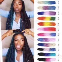 Wholesale color 33 braids for sale - Group buy Ombre Three Color Soft Dreadlock Hair Dread Faux Locs Braids Crochet Hair quot Softex Crochet Twist Braids Darling Synthetic Hair
