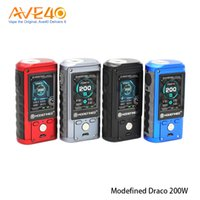 Wholesale mod full - Original Modefined Draco 200w Box Mod With 2.0 full Color Screen Powered by Dual 18650 batteries firmware upgradeable