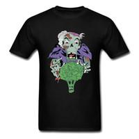 дизайн панк-майка оптовых-Уродливые веганский зомби футболки с коротким рукавом смешные мужчины осень топы тройники чистый хлопок дизайн панк Пасха футболка высокое качество