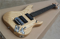 Wholesale electric guitar natural color for sale - Group buy Factory Custom Natural Wood Color Electric Guitar with Ash Body Rosewood Fretboard Chrome Hardware Floyd Rose guitarra guitars