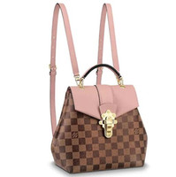Wholesale pink ostrich feather dress for sale - Group buy 2019 N42262 NEW CLAPTON BACKPACK FASHION WOMEN PINK BROWN Creme Backpacks Luggage Shoulder Bags HANDBAGS Belt Bag