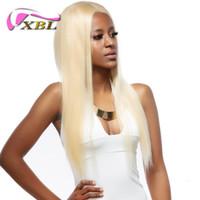 цена пряжи человеческого волоса оптовых-xblhair прямые светлые бразильские человеческие волосы ткать оптовая цена девственные волосы пучки человека 2/3 связки один комплект