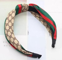 Wholesale bohemian leather resale online - HOT Designer Elastic Headband for Women and Men Fashion Famous Brand Hair bands For Women Girl Retro Turban Headwraps Gifts