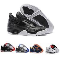sapatos de marcas famosas pretas venda por atacado-Esportes 4 tênis de basquete marca jogo homens esporte sapatos novo estilo vermelho rosa preto cor famosa sapatos femininos tamanho 41-47