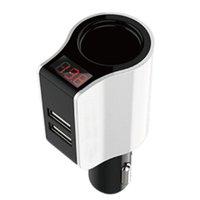 ingrosso porte per sigarette motociclistiche-Universale 12V-24V 2.1A 2 Porte Dual USB Car Accendisigari Adattatore per presa di corrente per auto Automobiles Car Styling Motorcycle