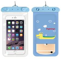 Wholesale huawei phone cartoon case - Top Cartoon Universal Cover Waterproof Phone Case For iPhone 7 6S Coque Pouch Waterproof Bag Case For Samsung Huawei Swim Waterproof Case