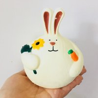 Wholesale y pendant - Cute Embrace Carrot Rabbit Squishy Toys Slow Rising Decompression Long Ears Coney Cake Squishies Charms Pendant 9 8ys Y