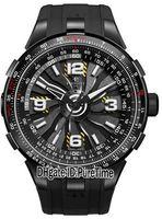 relógio taquímetro automático venda por atacado-Melhor Versão Turbina Piloto A1085-1 Titanium Dial Automático Mens Watch Tachymeter Escala Aparece Em Torno Do Exterior Relógios De Alça De Borracha Aro Pa1
