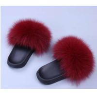 Wholesale cute medium heels - COOLSA Women's Furry Slippers Ladies Cute Plush Fox Hair Fluffy Slippers Women's Fur Slippers Winter Warm