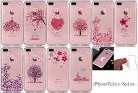 ingrosso iphone casi di ciliegio in fiore-Caso molle di lusso TPU per Iphone X 8 7 PLUS I7 6 6S I6 SE 5S 5 5C Ipod Touch 6 Cherry Blossom Gomma Trasparente Tree Rabbit Skin Cover 15 PZ
