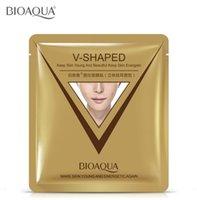 máscaras de modelagem faciais venda por atacado-BIOAQUA V-Shaped Ear Loop Estilo Máscara Facial 3D V-Line Lifting Endurecimento Máscara Facial Apertar Queixo Bochecha Reduzir Puffiness
