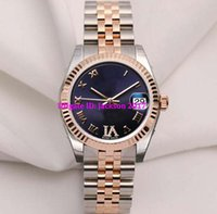 Wholesale automatic purple watch for sale - Factory Supplier Wristwatches womens watch ladys watch Midsize k Rose Gold Purple Diamond mm Stainless Steel