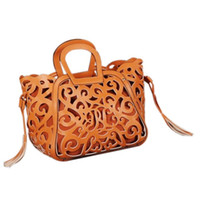 Wholesale Designe Handbags - TEXU women Faxu leather handbags luxury hollow out designe fashion messenger bag ladies tassel