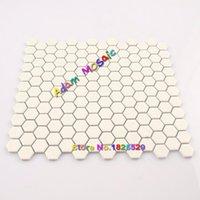 Wholesale Porcelain Tile Wholesalers - Hexagon Tile White Kitchen Backsplash Matt Tiles Mosaic Hexagon Frosted Porcelain Subway Cream Color Wall Deco Materials