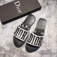 Wholesale indoor outdoor design - France Brand Sandals Letter Design Slippers Designer women sandals Huaraches Causal Slide Flip Flops by shoe001