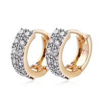 indische mode ohrring reifen großhandel-Top Qualität Kubikzircon Ohrringe Vintage Gold Überzogene Creolen Mode Frauen Indischen Schmuck für Party Hochzeit Prom