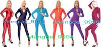 mavi likra toptan satış-Seksi Kırmızı Vücut Suit Koyu Mavi Catsuit Göl Mavi Kostümleri Turuncu Takım Mor Bodysuit Leylak Kostüm Yeni 23 Renk Lycra Cadılar Bayramı Kostümleri M312