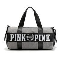 сумка-холодильник оптовых-Оптовая женская мода сумки новое прибытие розовый большой емкости путешествия фитнес сумка полосатый водонепроницаемый пляжная сумка прохладный сумка