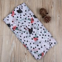 Wholesale carnations flower colors online - Newest Carnations Flower Pattern Scarf Women Dot And Floral Pattern Shawls Scarves Muslim Spot Wrap Hijab Mother Gifts colors