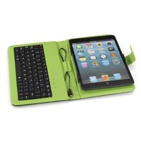 ingrosso green tablet-Custodia Verde Cover Keybaord per Tablet Micro USB da 7 pollici MID 2016 Novità