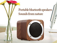 Wholesale phone range - Wooden Wireless Speaker Bluetooth 4.0 Loudspeakers full range+Stereo Bass Surround Portable HiFi Subwoofer TF FM 1800mah big battery 10PCS