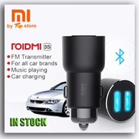 Wholesale Hifi Bluetooth Transmitter - ROIDMI3S Xiaomi Bluetooth Accessories FM Transmitter Modulator Voltage Converter dual Usb Car Charger Audio Mp3 Player Autoradio