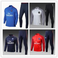 Wholesale Men S Express - up to date 2017 2018 NEYMAR JR DI MARIA CAVANI VERRATT 17 18 training Jerseys kit jacket tracksuit Express mail free..