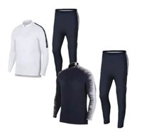 Wholesale Free Soccer Training - 2018 NEW Fr tracksuit Football jacket training suit 1819 top quality GRIEZMANN MARTIAL POGBA Giroud jacket Training suit chandal set free sh