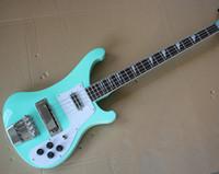 гитары электрическое небо оптовых-Фабрика Custom Sky Blue 4-струнная электрическая гитара для бас-гитары с белым пикапом, палисандровым грифом, хромированными застежками, предложение под заказ