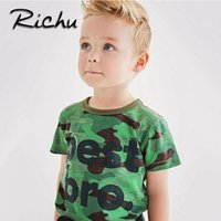 Wholesale boys superman halloween costumes - Richu fashion t shirt children clothes t-shirts supermen for boys solid t shirts for boys toldder children costumes wholesale 6 pieces a lot
