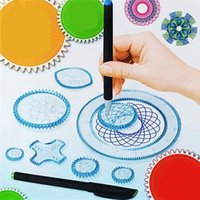 Wholesale Various Paints - Large Size Various Flowers Drawing Template Ruler Set Children Fine Arts Painting Supplies Funny Curvilinear Rulers 10 8bx W