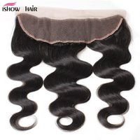 Wholesale Hot Human Body - 10A Peruvian Body Hair Lace Frontal Closure Indian Body Wave Hot Selling Brazilian Malaysian Virgin Human Hair Lace Frontal With Baby Hair
