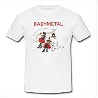 dessins de cou de bande achat en gros de-2018 Nouveau T-shirt O-Cou Hommes Babymetal World Design Band T-shirts À Manches Courtes