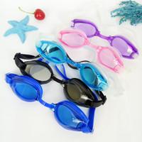 óculos de diversão para crianças venda por atacado-Água Fun Crianças Crianças de Alta Definição Silicone Óculos de Natação Meninos Meninas Antifog Óculos de Mergulho À Prova D 'Água Livre Tampões De Ouvido