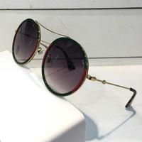 marcos redondos al por mayor-Mujeres de lujo gafas de sol de diseño 0061 marca de moda estilo color mezclado retro marco redondo para las mujeres gafas de protección de calidad superior gafas de protección UV