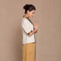 Wholesale beauticians uniforms online - Health care clothing foot bath work Uniform suits SPA technician Thailand Massage garment Beautician Overalls Hospital Nurse Health Sauna