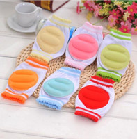 Wholesale toddler elbow pads online - Kids Safety Crawling Elbow Cushion Infants Toddlers Baby Knee Pads Protector Warm Safe Baby Care Knee pad KKA5831