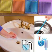палочка для обеззараживания оптовых-Сани палку трубопровод ванна канализация обеззараживания палочки очистки держите ваши сливные трубы туалет ванна сливной очиститель канализационный стержень WX-C08