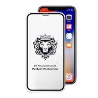 xiaomi beschützer großhandel-Full Cover gehärtetes Glas für iPhone XR XS MAX X Displayschutzfolie Samsung Huawei Xiaomi Kein Paket